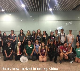 The BC crew, arrived in Beijing, China