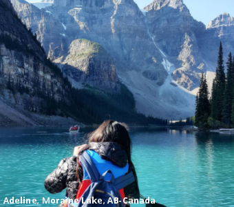 Adeline, Moraine Lake, AB-Canada