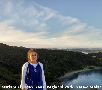 Mariam Ali, Mahurangi Regional Park in New Zealand