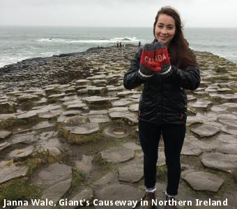 Janna Wale, Giant's Causeway in Northern Ireland