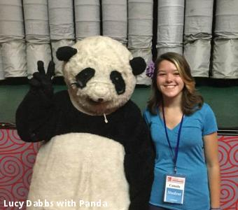 Lucy Dabbs with Panda