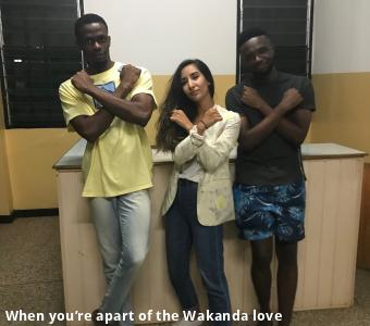 When you're apart of the Wakanda love