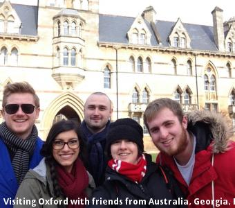 Visiting Oxford with friends from Australia, Georgia, England and Canada.