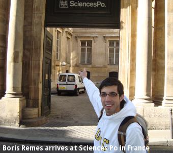 Boris Remes arrives at Sciences Po in France
