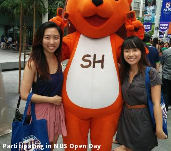 Participating in NUS Open Day