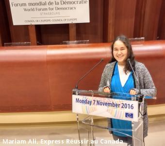 Mariam Ali, Express Réussir au Canada