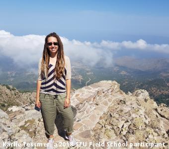 Karlie Tessmer, a 2018 SFU Field School participant