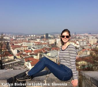 Katlyn Bieber in Ljubljana, Slovenia