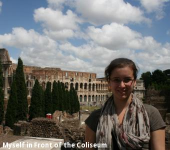 Myself in Front of the Coliseum
