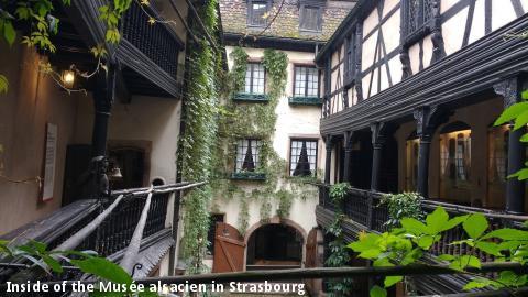 Inside of the Musée alsacien in Strasbourg