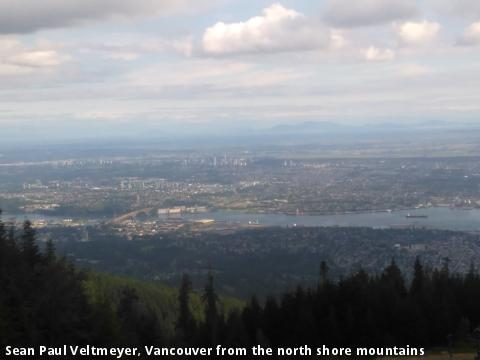 Sean Paul Veltmeyer, Vancouver from the north shore mountains