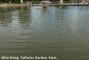 Alice Wang, Tuileries Garden, Paris.