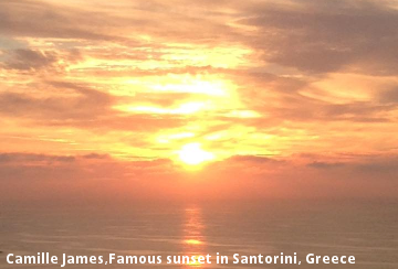 Camille James,Famous sunset in Santorini, Greece