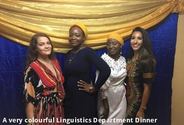 A very colourful Linguistics Department Dinner