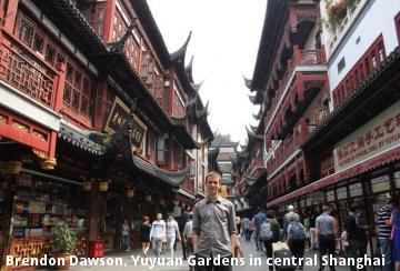 Brendon Dawson, Yuyuan Gardens in central Shanghai